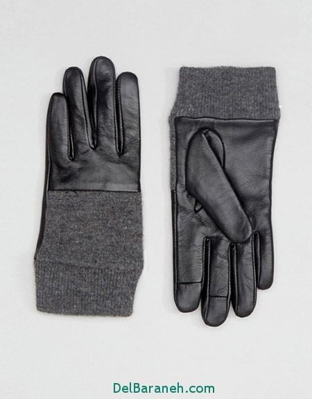 مدل دستکش بافتنی و چرم (10)