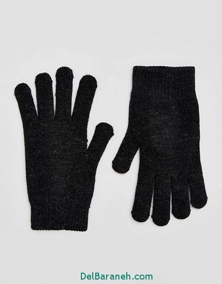 مدل دستکش بافتنی و چرم (11)