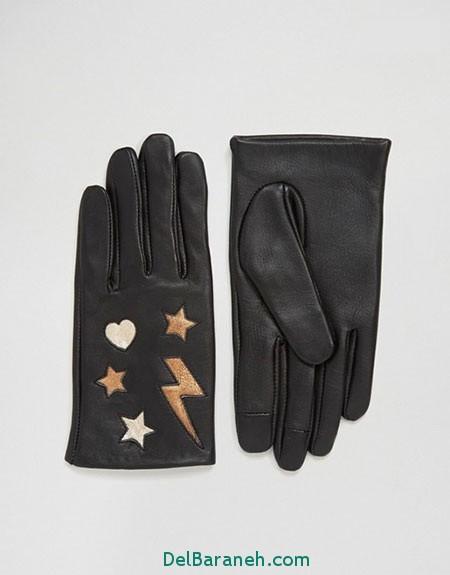 مدل دستکش بافتنی و چرم (12)