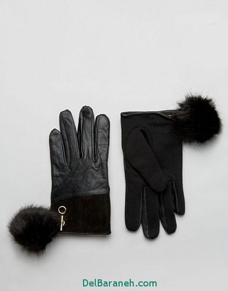 مدل دستکش بافتنی و چرم (13)