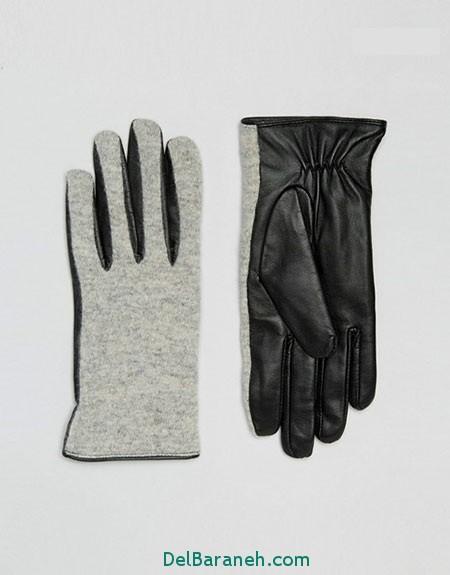 مدل دستکش بافتنی و چرم (15)