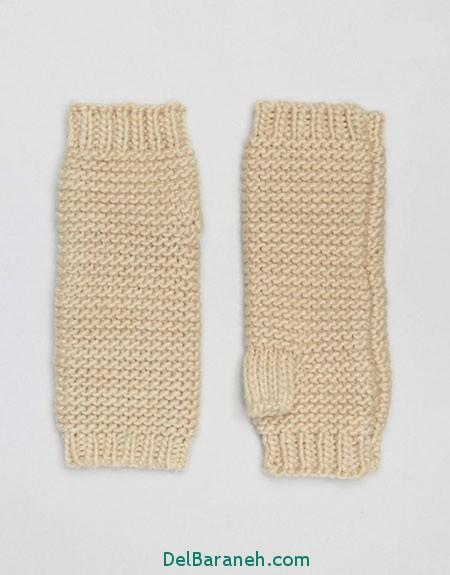 مدل دستکش بافتنی و چرم (16)