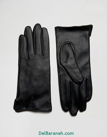 مدل دستکش بافتنی و چرم (17)