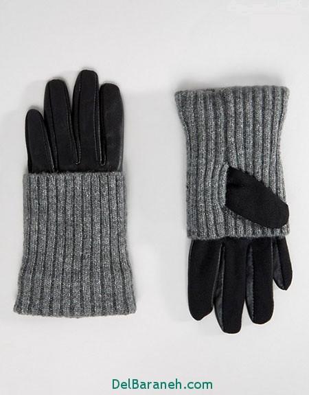 مدل دستکش بافتنی و چرم (19)
