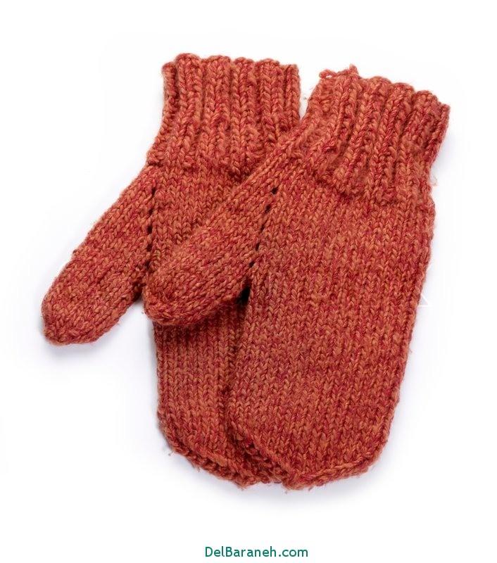 مدل دستکش بافتنی و چرم (2)