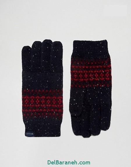 مدل دستکش بافتنی و چرم (20)