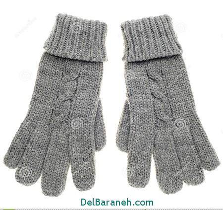 مدل دستکش بافتنی و چرم (25)