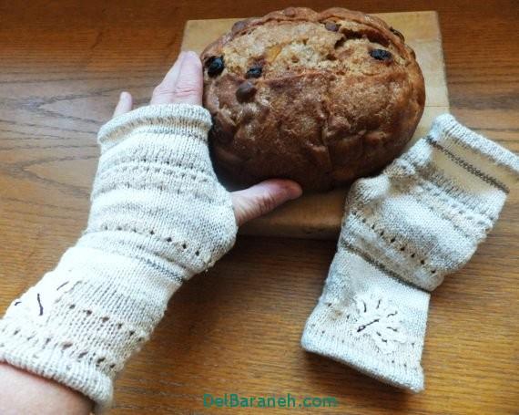 مدل دستکش بافتنی و چرم (26)
