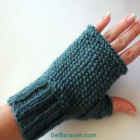مدل دستکش بافتنی و چرم (3)
