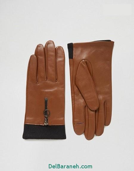 مدل دستکش بافتنی و چرم (4)