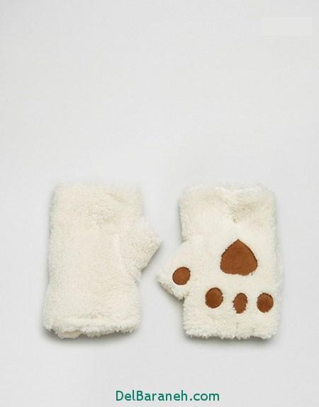 مدل دستکش بافتنی و چرم (5)