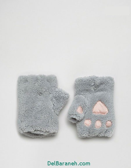 مدل دستکش بافتنی و چرم (6)