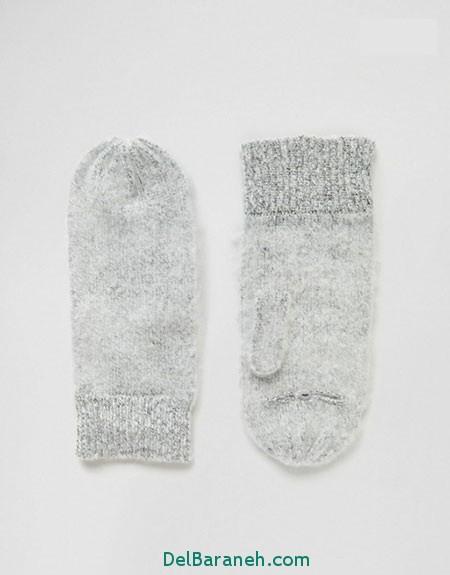مدل دستکش بافتنی و چرم (7)