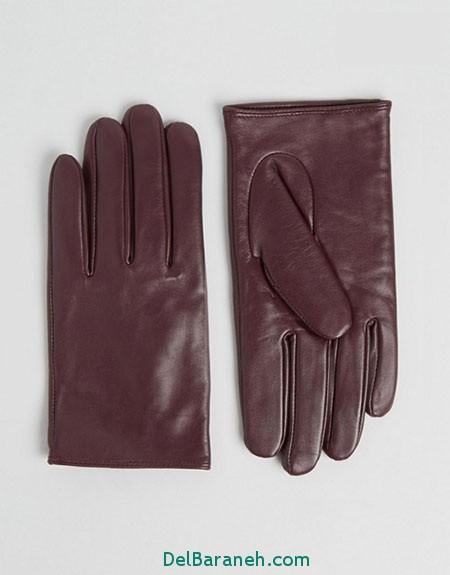 مدل دستکش بافتنی و چرم (9)