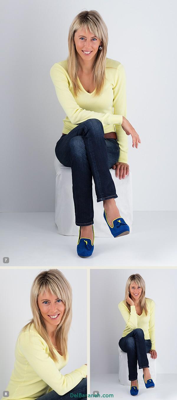 ژست های عکاسی بسیار زیبا و جذاب برای خانم ها