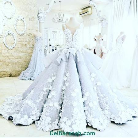 مدل لباس عروس پرنسسی (10)