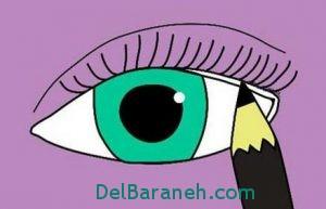کشیدن خط چشم به 3 مدل