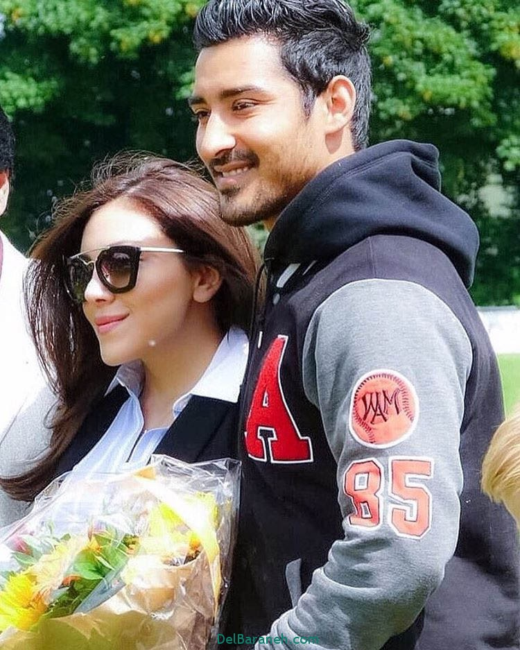 سلفی رضا قوچان نژاد و همسرش سروین بیات در لندن