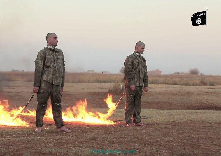 دانلود فیلم 18+ آتش زدن دو سرباز ارتش ترکیه توسط داعش در سوریه