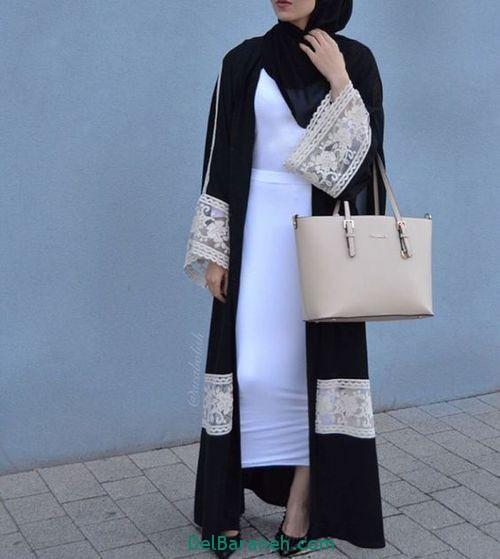 مدل مانتو بلند عربی (15)