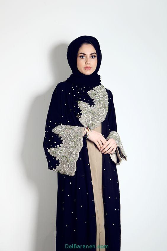 مدل مانتو بلند عربی (2)