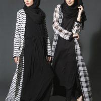 مدل مانتو بلند عربی زنانه مناسب برای مجالس و مهمانی ۱۳۹۶