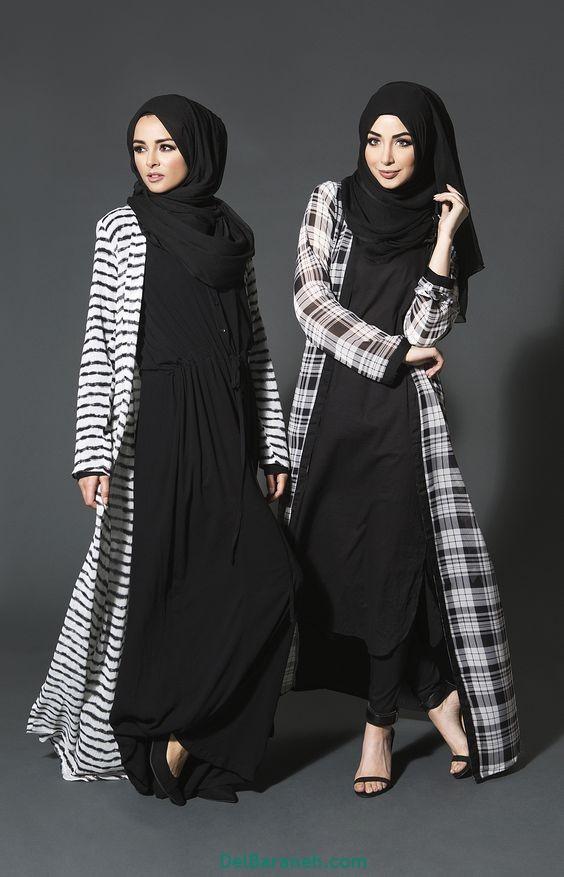 مدل مانتو بلند عربی (20)