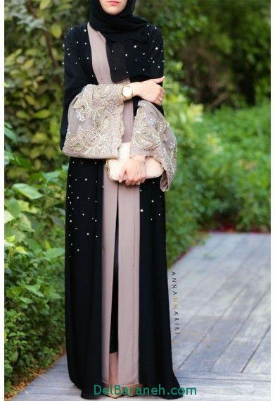 مدل مانتو بلند عربی (3)