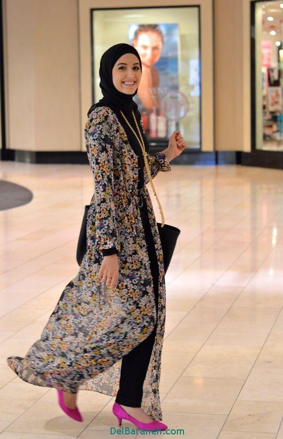 مدل مانتو بلند عربی (8)