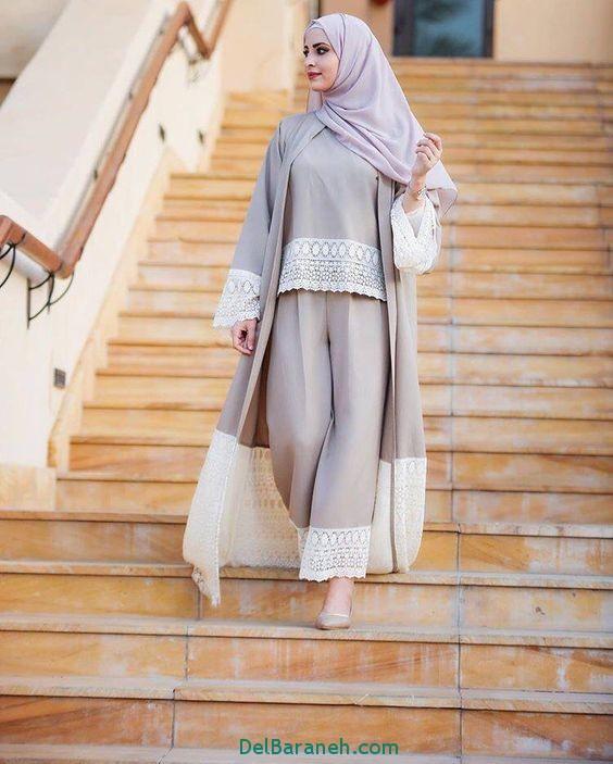 مدل مانتو بلند عربی (9)