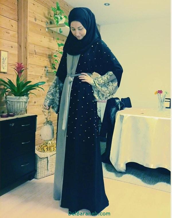 مدل مانتو زنانه بلند عربی (14)
