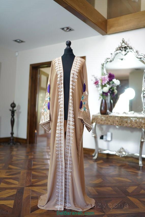 مدل مانتو عبایی جلو باز عربی (10)
