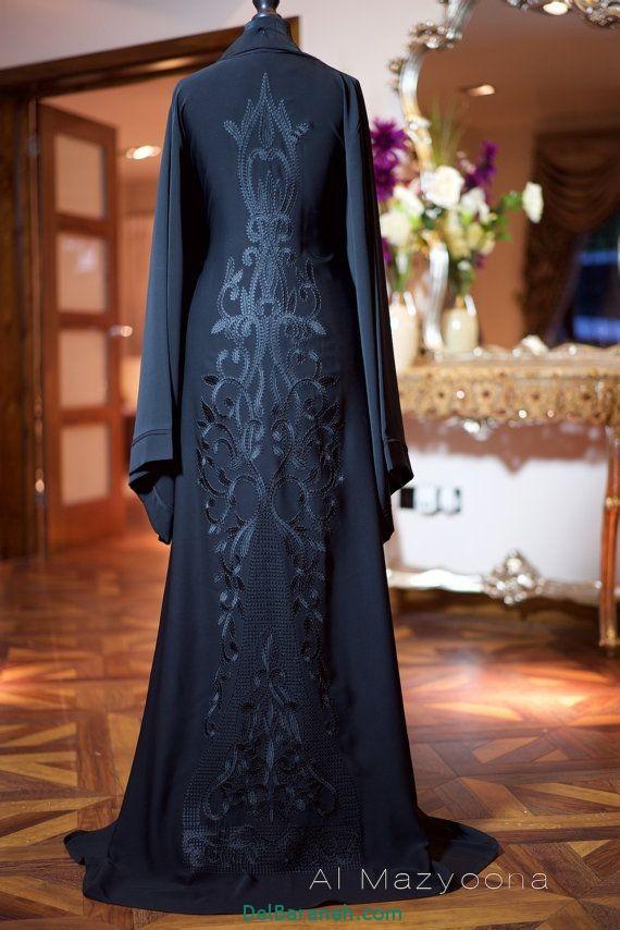 مدل مانتو عبایی جلو باز عربی (11)