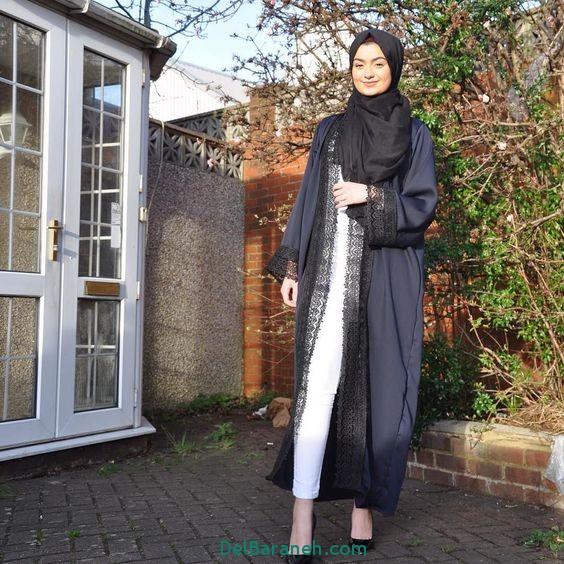 مدل مانتو عبایی جلو باز عربی (14)