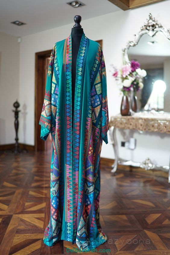 مدل مانتو عبایی جلو باز عربی (15)