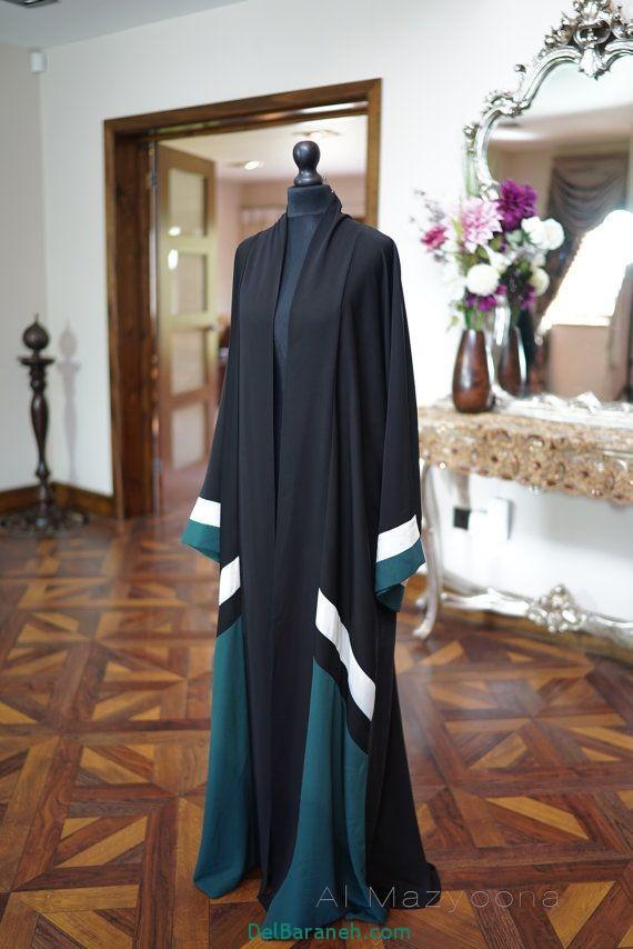 مدل مانتو عبایی جلو باز عربی (3)