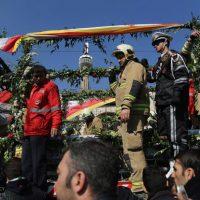 گزارش تصویری مراسم تشییع پیکر شهدای آتشنشان ۱۱ بهمن ۹۵