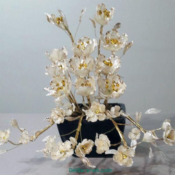 گلدان با گل کریستالی (۱)