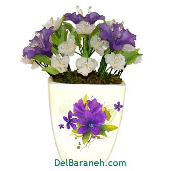 گلدان با گل کریستالی (۳)