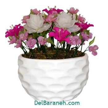 گلدان با گل کریستالی (۴)