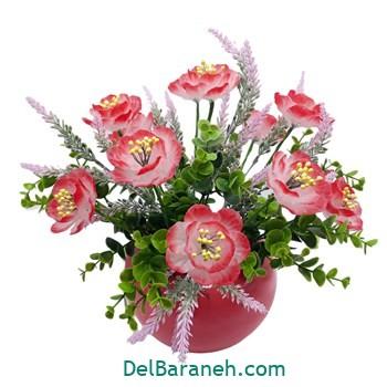 گلدان با گل کریستالی (۵)
