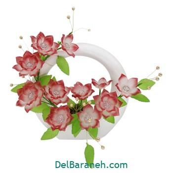 گلدان با گل کریستالی (۶)