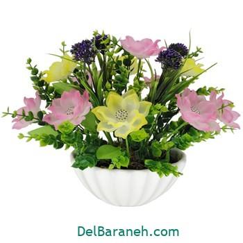 گلدان با گل کریستالی (۸)