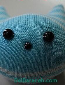 آموزش تصویری ساخت عروسک جورابی