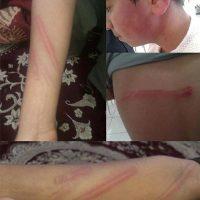 تصاویر تنبیه وحشتناک یک دانش آموز درشهرستان قاین بهمن ۹۵