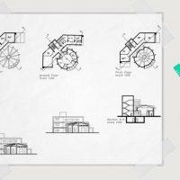 دانلود پلان معماری و طراحی بانک به همراه فایل اتوکد