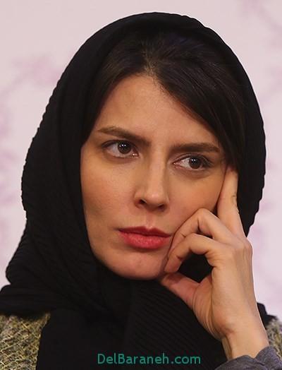 مدل عجیب و گشاد شلوار لیلا حاتمی در جشنواره فیلم فجر 95