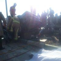 تصاویر تصادف مرگبار در اتوبان باکری ۲۷ بهمن ۹۵