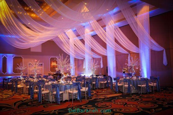 دکوراسیون و چیدمان باغ و تالار عروسی (9)