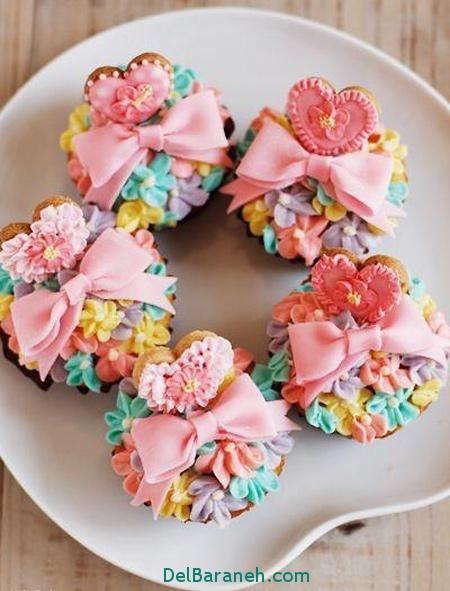 دیزاین کاپ کیک ویژه ولنتاین